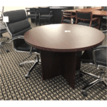 "Round Table 42"" Mahogany"