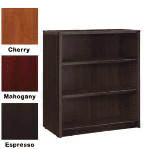 Nexus 3-Shelf Bookcase - Espresso - 3 Colors