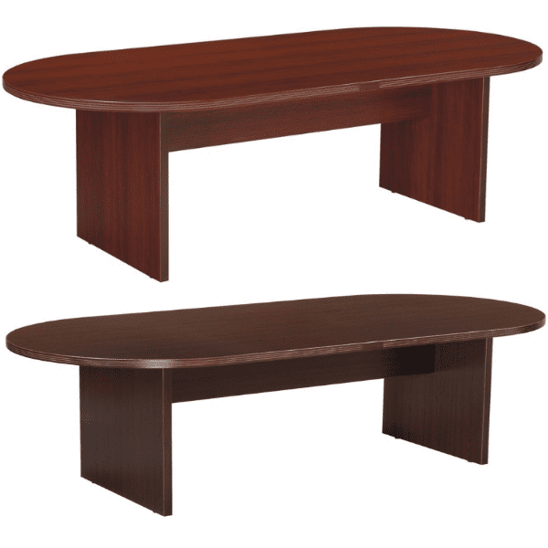 Nexus 8 Feet Oval Shape Conference Tables - Mahogany & Espresso