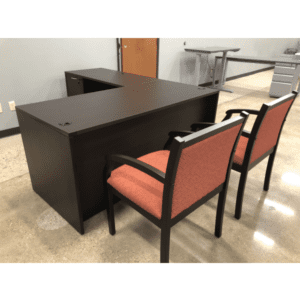 Nexus L-Shaped Desk - Espresso - Left Return - Floor