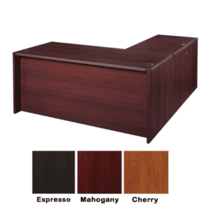 Nexus L-Shaped Desk - Mahogany
