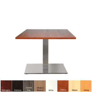 PLTSQ36 Cherry Top Lobby Table and Aluminum Base