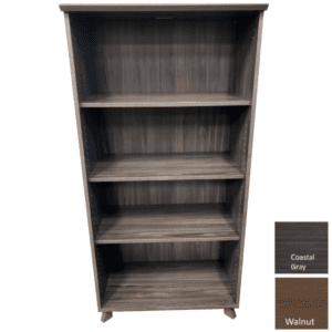 COE OX956 Open 5-Shelf Bookcase - Coastal Gray Finish