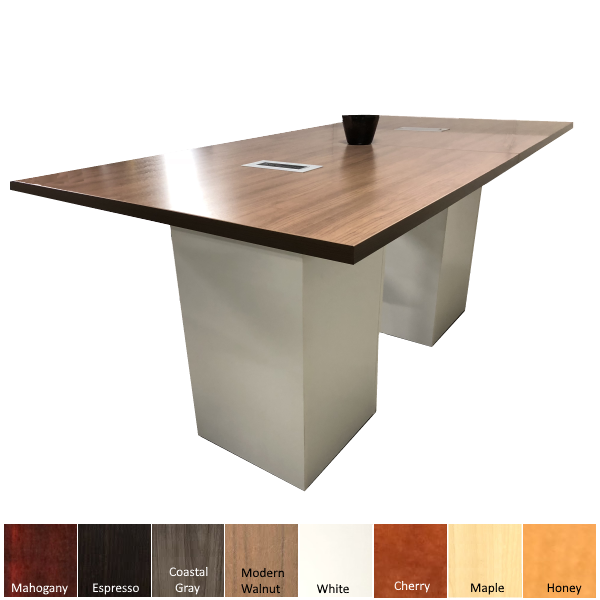 Standing Height Cube Base Conference Table
