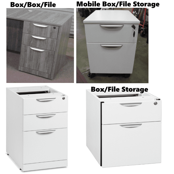 Pedestals - Indentified - Box/File Box/Box/File & File/File
