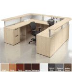 PL Performance Borders U Shaped Reception Desk with Countertops