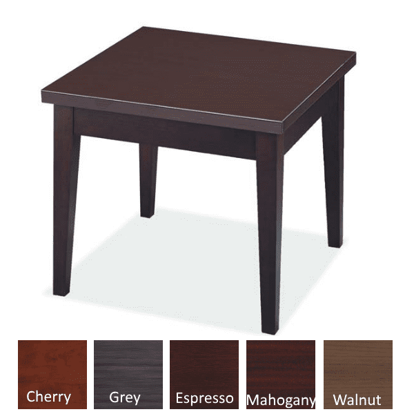 Performance Laminate End Table - Espresso - Available in 5 Colors