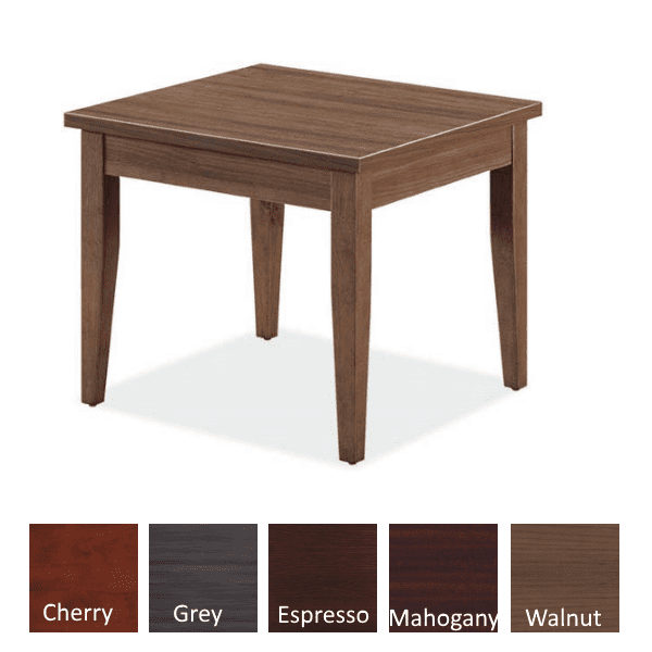 Performance Laminate End Table - Walnut - Available in 5 Colors