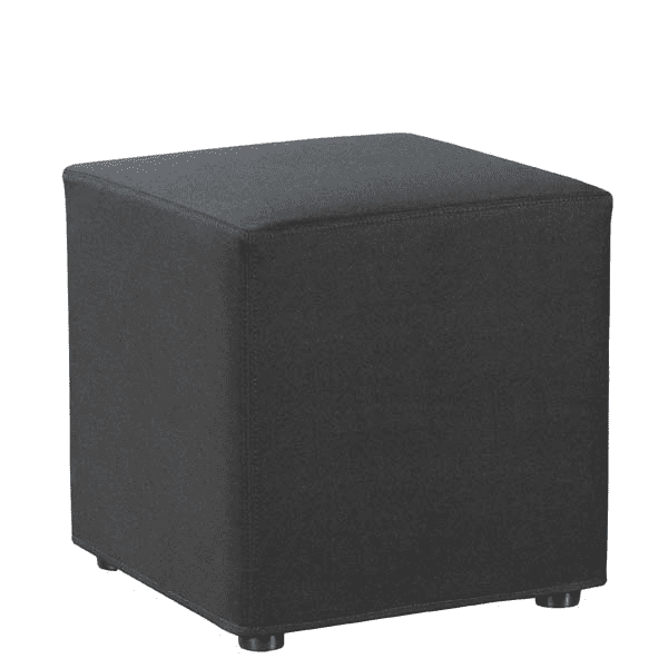 Shapes Collection - Cube Ottoman - Black Fabric