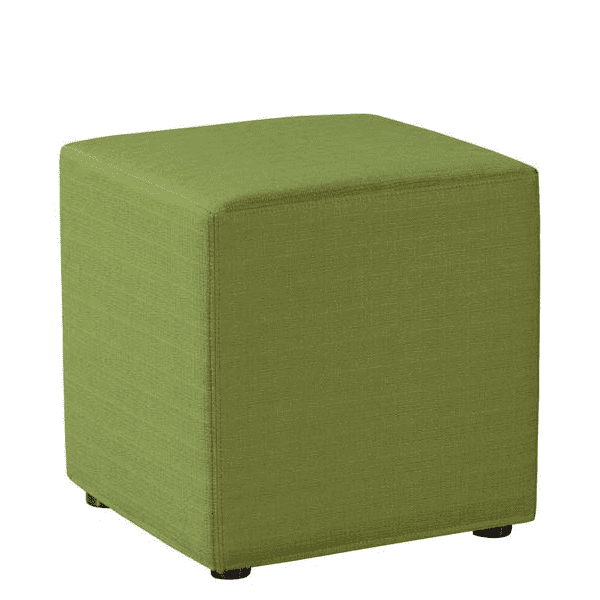 Shapes Collection - Cube Ottoman - Lime Green Fabric