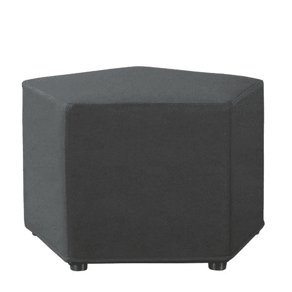 Shapes Collection - Pentagon Ottoman - Black Fabric -