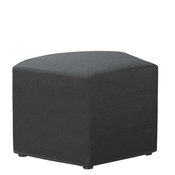 Shapes Collection - Quad Ottoman - Black Fabric