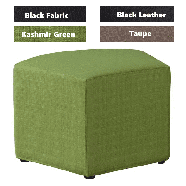 Shapes Collection - Quad Ottoman - Lime Green Fabric - 4 Colors