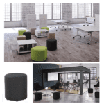 Shapes Seating Collection Array of Round Cylinders