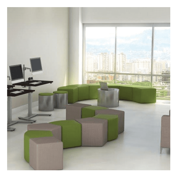 Shapes Seating Collection - Fabric Mix of Shapes