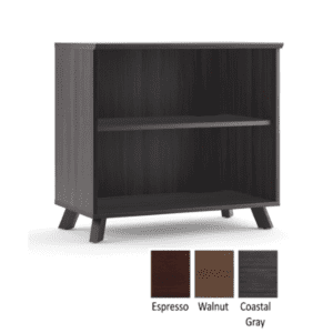 Sienna 2-Shelf Bookcase - Coastal Gray - 3 Colors