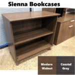 """Sienna Bookcase at 30""""H - 2 Shelves"""