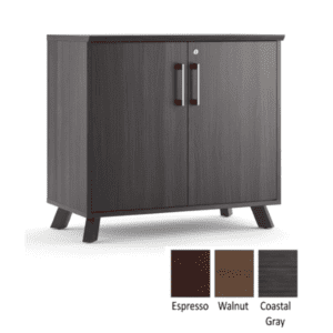 Sienna 29 Inch Tall 2-Shelf Storage Cabinet - Coastal Gray - 3 Colors