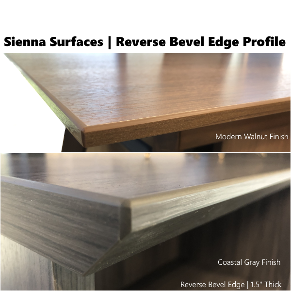 Sienna Collection Beveled Edge Finishes