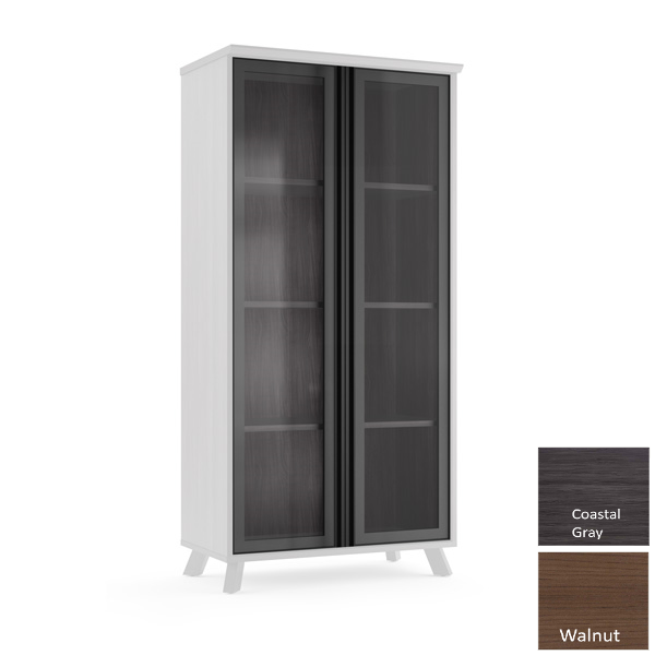 OX956 Glass Front Storage Bookcase