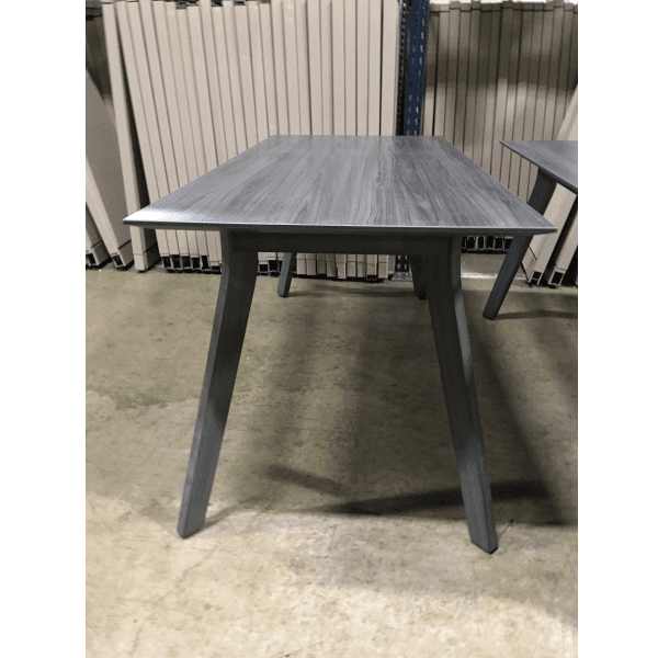 Sienna Table Desk - 3 Sizes - Coastal Gray - Reverse Bevel Edge