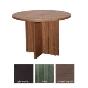 Status 42 Round Table in 3 Finish Colors