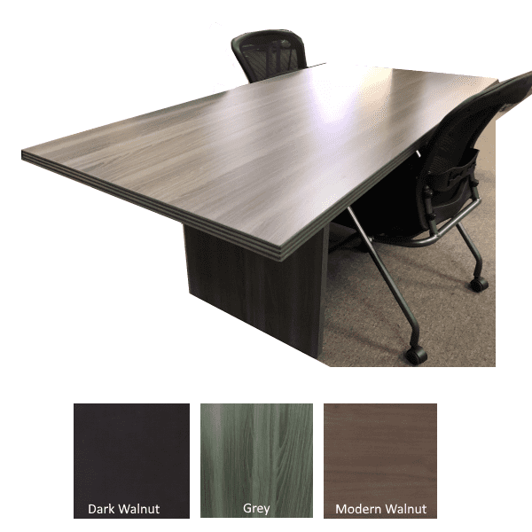 Status 6 Feet Rectangular Conference Table - Grey Finish