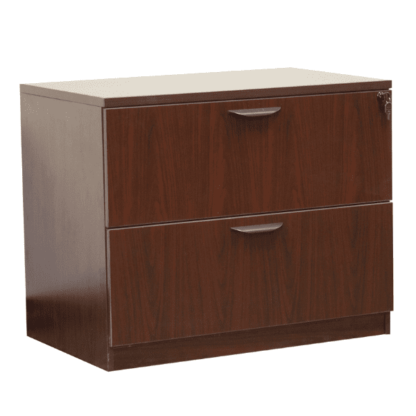 Ultra 2-Drawer Lateral File Cabinet - Mahogany - 5 Colors