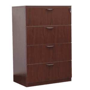 Ultra 4-Drawer Lateral File Cabinet - Mahogany - 5 Color Finishes