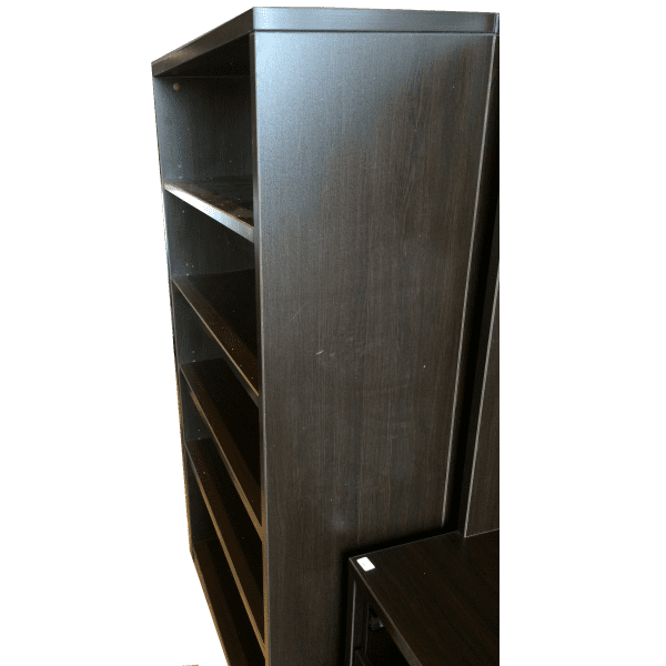 Ultra 5-Shelf Bookcase - Espresso - Side