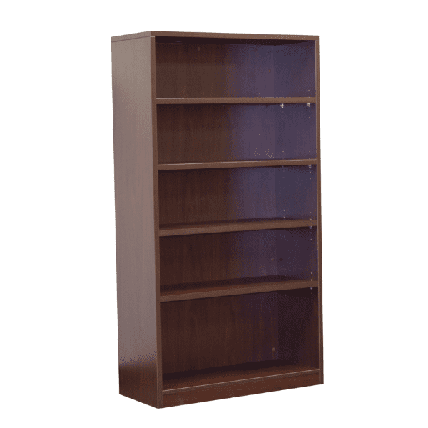 Ultra 5-Shelf Bookcase - Mahogany - 3 Colors