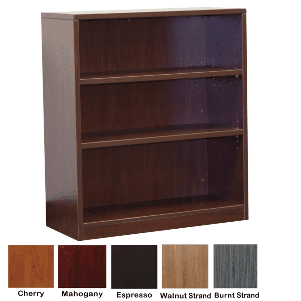 Ultra 5-Shelf Bookcase - Mahogany - 5 Colors