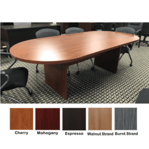 Ultra 8 Feet Conference Table - Oval - Cherry Finish