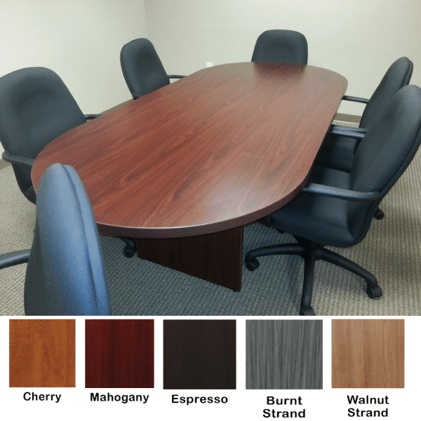 Ultra 8 Feet Oval Conference Table - 5 Finishes