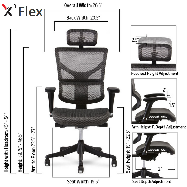 X-Chair Specification Seating Chart