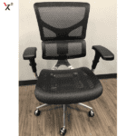 X2 Chair Black Mesh Front View