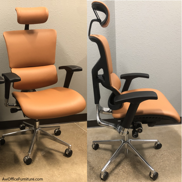 X4 Leather Chair with Headrest