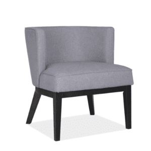 Barrel Back Grey Linen Reception Chair
