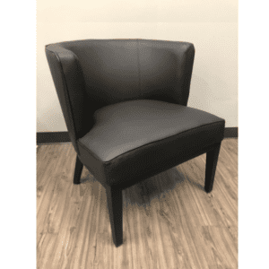 Black Barrel Back Reception Chair
