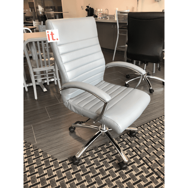 FL Faux Leather Managers Office Chair - Charcoal