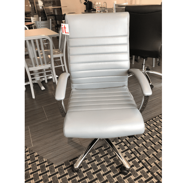 Faux Leather Managers Office Chair - Charcoal Gray - Facing