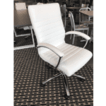 FL Faux Leather Office Chair - White