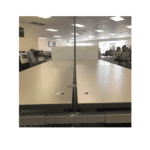Front Mount 19 Inch Frosted Glass Screens - Side