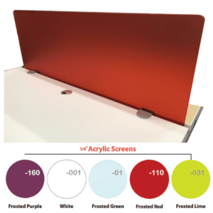 Front Mount Acrylic Privacy Screen - Frosted Red
