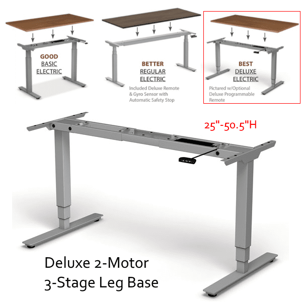 Height Adjustable Bases - Silver - Good - Better - Best - Best Base Option