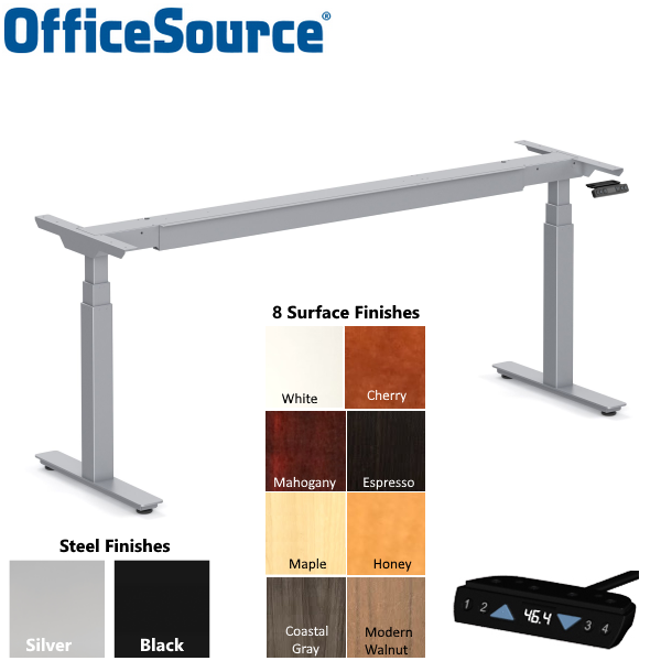 Office Source Standup Series Adjustable Bases - two colors