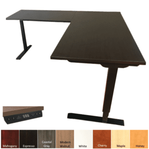 Office Source L-Shaped Height Adjustable Desk