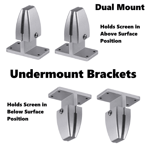 PLTAP Undermount Dual Mount Bracket Hardware