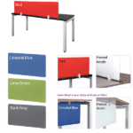 Desk Screens in 5 Colors