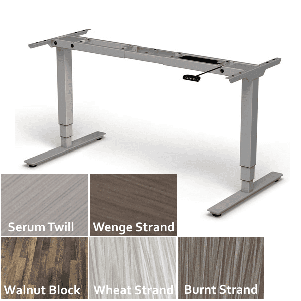Regular Adjustable Height Electrical 2 Motor 3-Stage Legs - Silver - 6 Colors